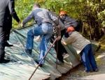 В Печерском районе демонтировали незаконный строительный забор