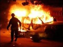 В Киеве сожгли элитную иномарку