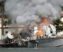 Под Киевом неизвестные спалили яхты