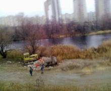 """На Позняках уничтожают озеро. """"Киевгорстрой"""" говорит, что они тут не причем"""