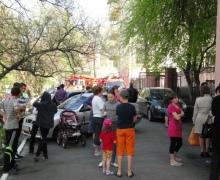 В Киеве горело общежитие Верховной Рады