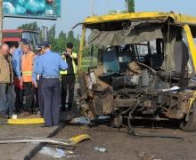 В Киеве на Харьковской площади случилось ДТП. Погиб водитель маршрутки