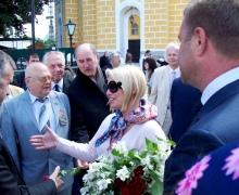 Жители Киева отметили День России