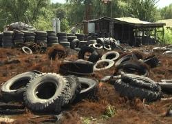 На Киевщине дизельное топливо смешивали с использованными автопокрышками