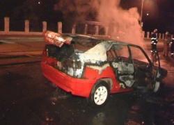 У киевлянина сгорела машина, которую он приобрел день назад