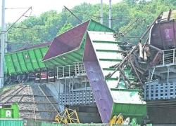 В Киеве столкнулись два товарных поезда