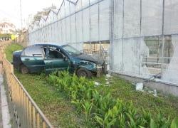 Пьяный киевлянин угнал машину и врезался в теплицу ботсада