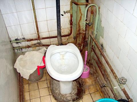 Киевляне стали использовать санузлы вместо мусоропровода