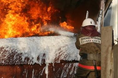 В Киеве горел магазин фототехники, а сгорел квадроцикл