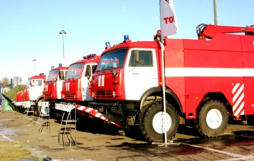 Киевлянам продемонстрируют пожарную технику в деле