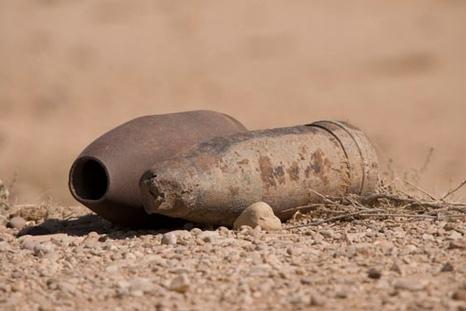 На территории школы найден артиллерийский снаряд