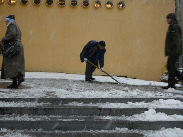 Чиновники покажут киевлянам как нужно убирать снег