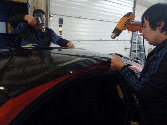 Как оклеить авто виниловой пленкой?