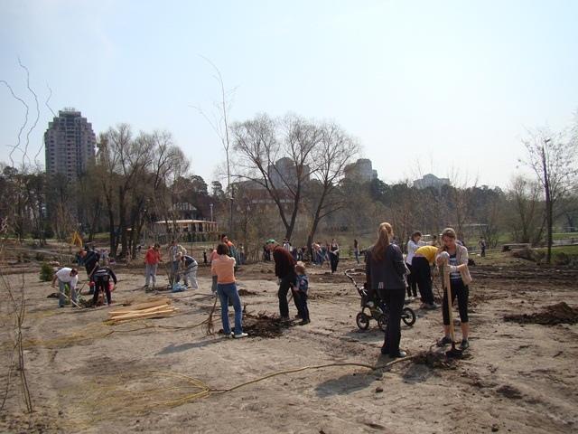 В Киеве высадили новый парк