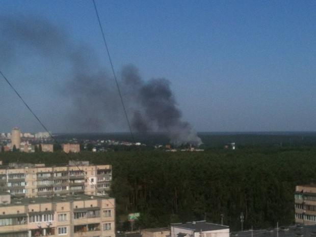 Под Киевом пылает гостиничный комплекс