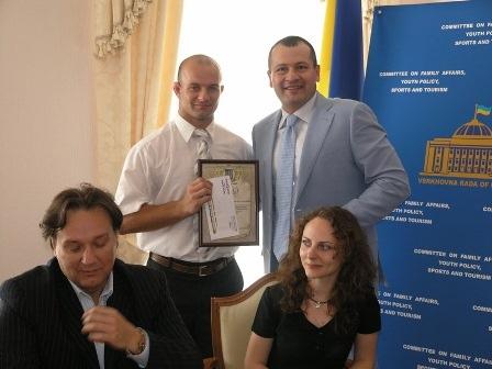 Украинских единоборцев поздравили в Комитете ВРУ