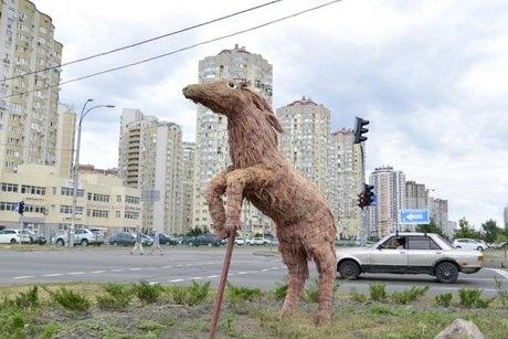 На Днепровскую набережную прискакал топиарный конь
