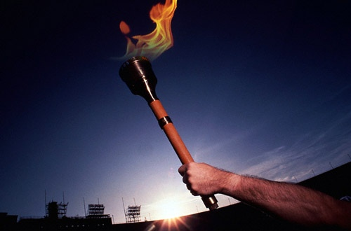 В Киеве можно увидеть легендарный Олимпийский факел 1980 года