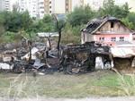На Позняках в страшном пожаре сгорел кабан