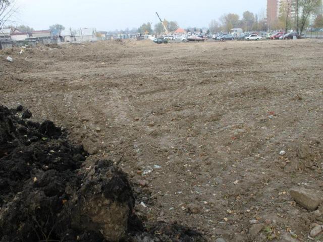 В Голосеево уничтожили зеленую зону