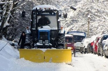 На улицах Киева уже ждут снег