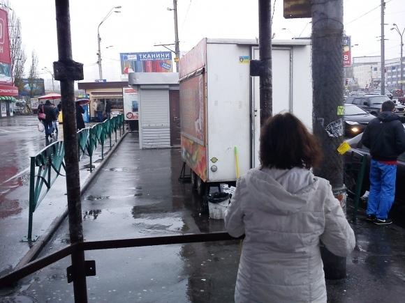 Владельцы МАФов в Киеве в конец обнаглели