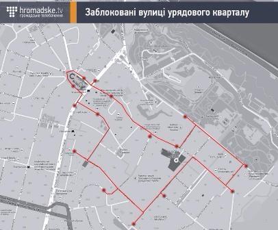 Блокадный Киев - в Сети появилась карта баррикад