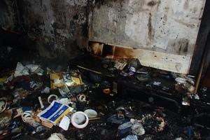 Пожар в квартире испортил киевлянке новогодний вечер