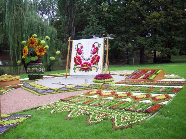 В Киеве высадят этноклумбы