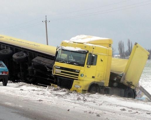 Если начнется метель в Киев не будут пускать грузовики