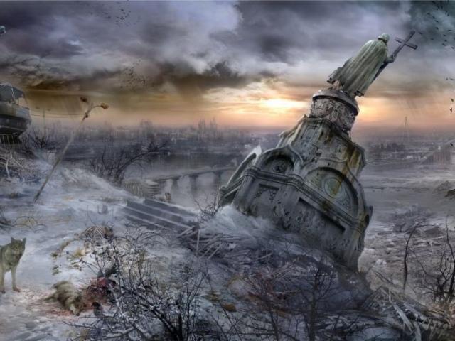 Украинский художник нарисовал Апокалиптичный Киев