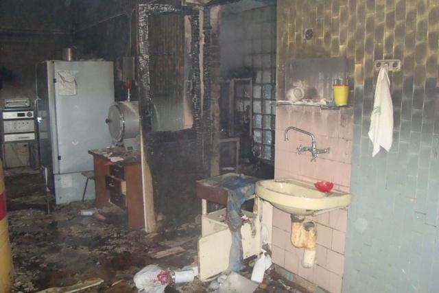 В Киеве горело здание городского центра крови