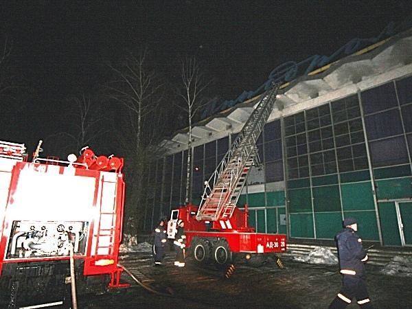 На территории Киевского ипподрома произошел пожар
