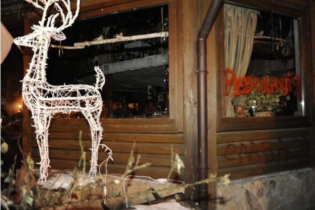 Ночь погрома: в Киеве разгромили два ресторана