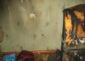 Во время пожара едва не погиб ребенок