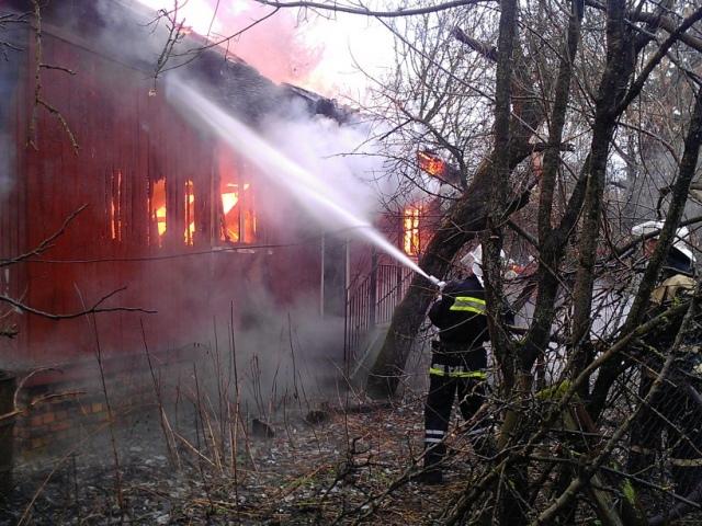 В зоне отчуждения горел отселенный дом