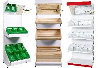 Виды стеллажей для продуктовых магазинов