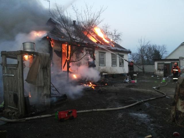На Киевщине из горящего дома спасли детей