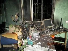 В Киеве сгорел офис одного из председателей ОСМД