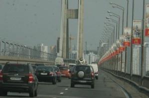 В ночь с 8 на 9 мая движение на Южном мосту будет затруднено