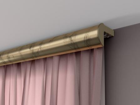 Декорирование окна: карниз потолочный для штор