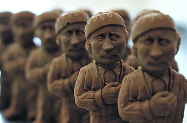 Киевляне смогут откусить голову Владимиру Путину