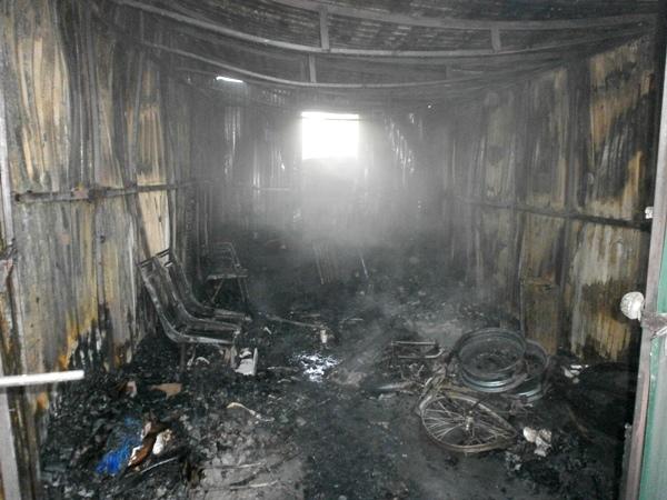В гараже частного дома заживо сгорел мужчина