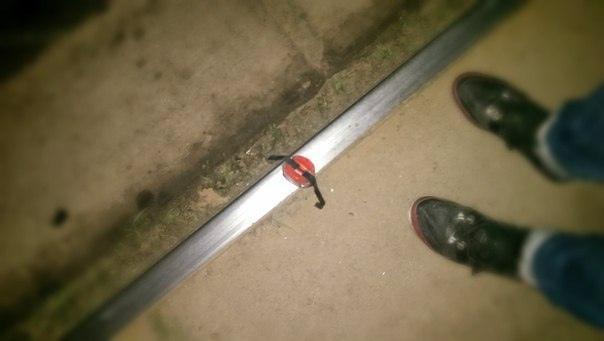 Ночью на Троещине пытались взорвать трамвайные пути