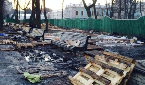 МВД не хочет искать ответственных за вандализм в Мариинском парке в Киеве - экологи
