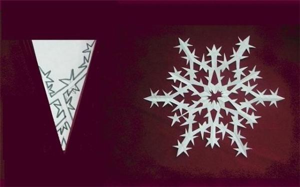 Рукоделие снежинки