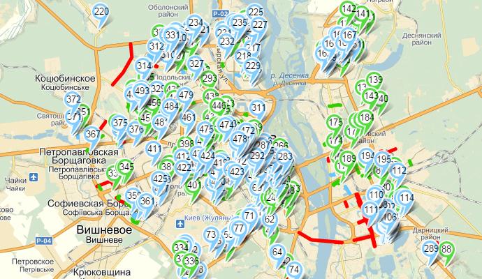 За ремонтом дорог в Киеве можно следить через Интернет