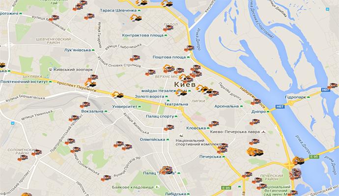 Киевляне смогут отслеживать как убирается снег в городе