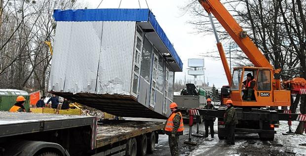 Киевские власти потратили 6 млн. грн. на демонтаж МАФов