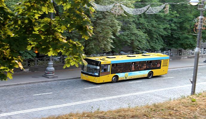 Киевские маршрутки заменят вместительными автобусами
